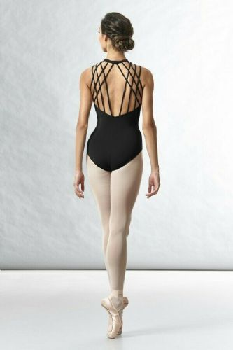 BLOCH Ladies Dance Mesh Front Neck Open Rouleau Back Leotard L8755 Sakura